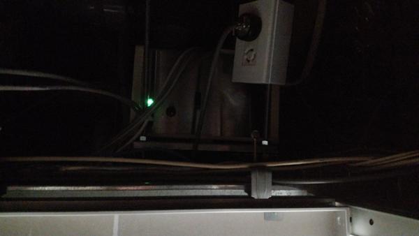 点検口から香り発散器の確認
