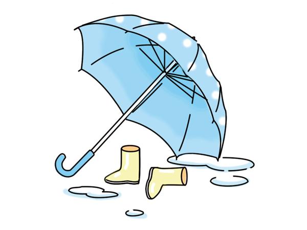 傘と長靴のイメージ
