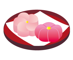 梅の和菓子イメージ