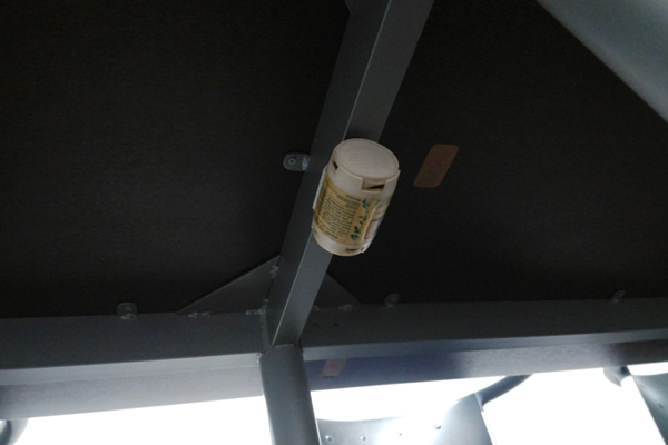 会議室の臭い対策に設置した消臭剤