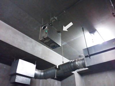マンションゴミ置場の消臭器