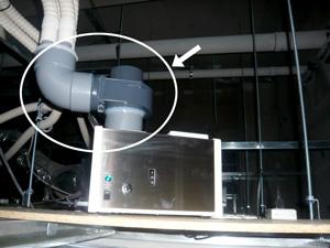 消臭器の部品(配管アダプター)