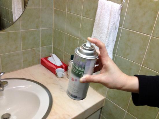 トイレに常備している消臭スプレー