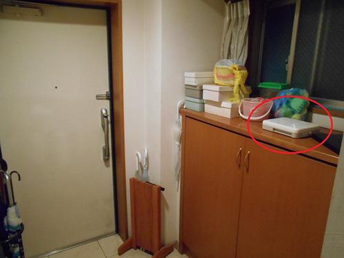 玄関に置いた消臭器