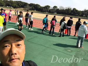 マラソンに参加する瀬田