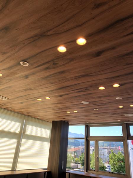 リフレッシュルームの天井