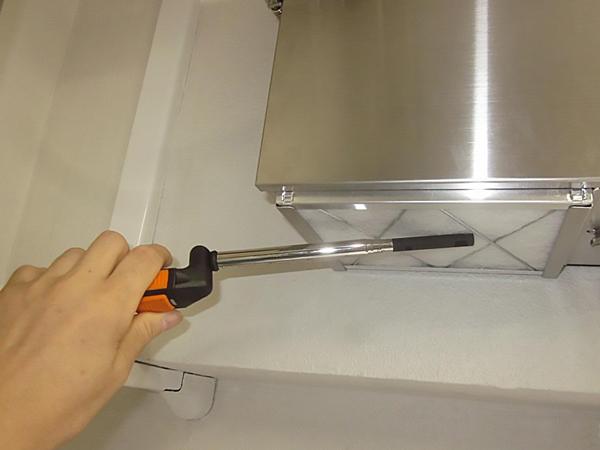 消臭器に入る風速を測定