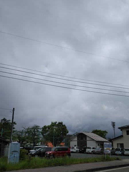 曇りで見えない富士山