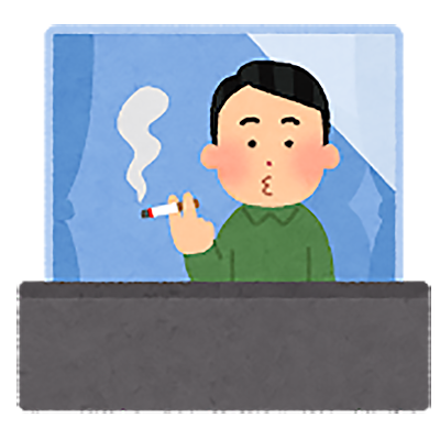 タバコを吸うイメージ