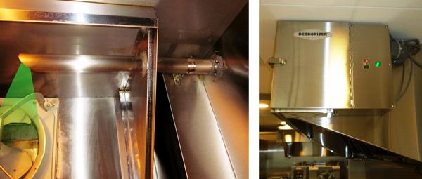 厨房排気のニオイ対策:換気扇設置例1