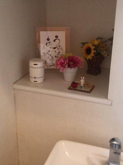 トイレに置いた森のカプセル
