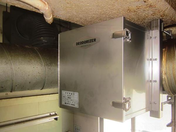 食品工場に取り付けたDC-4S2