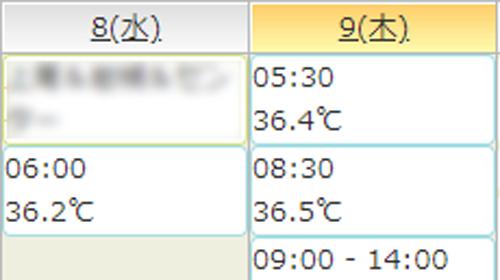 体温チェック